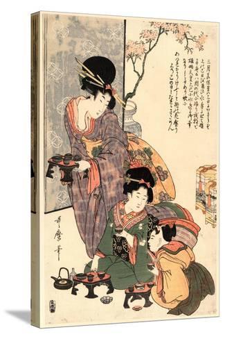 Hinamatsuri-Kitagawa Utamaro-Stretched Canvas Print