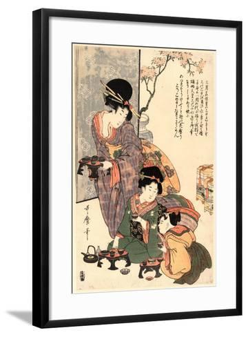 Hinamatsuri-Kitagawa Utamaro-Framed Art Print