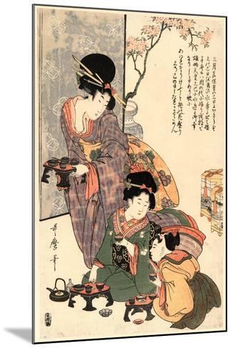 Hinamatsuri-Kitagawa Utamaro-Mounted Giclee Print