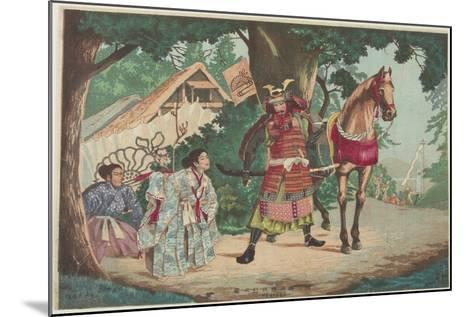 Departure of the Warrior Kusunoki at the Sakurai Station, C. 1880-1899-Kobayashi Kiyochika-Mounted Giclee Print