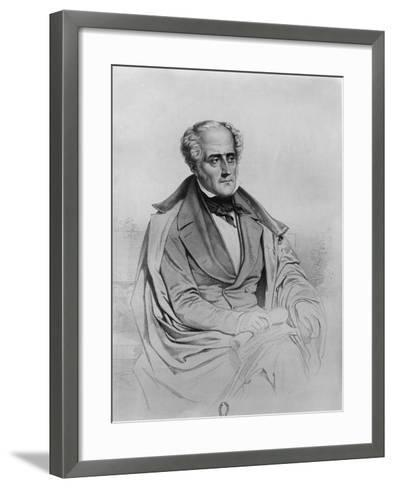Portrait of Chateaubriand-Marie Alexandre Alophe-Framed Art Print
