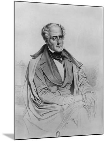 Portrait of Chateaubriand-Marie Alexandre Alophe-Mounted Giclee Print