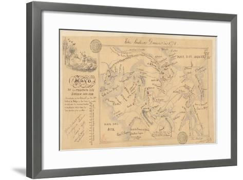 Plano De La Provincia Del Darien, 1774-Lucien de Puydt-Framed Art Print