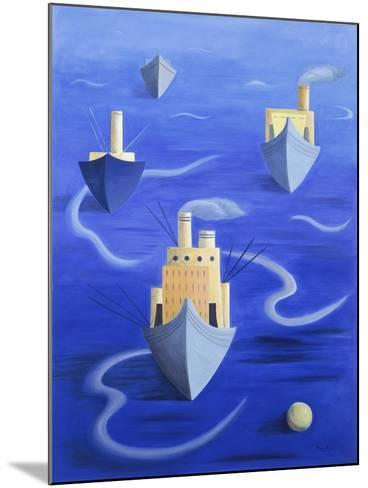 Boats in Harbour, 1994-Marie Hugo-Mounted Giclee Print