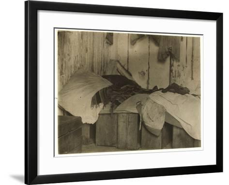 De Marco Shack for Cranberry Pickers at Forsythe's Bog-Lewis Wickes Hine-Framed Art Print