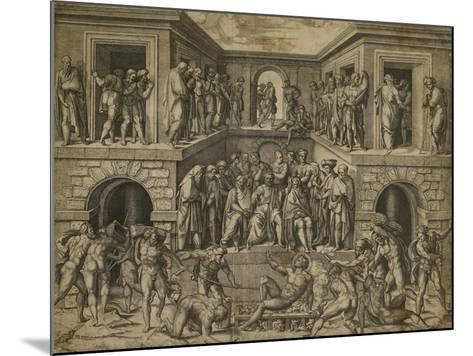The Martyrdom of St Lawrence, C. 1525-Marcantonio Raimondi-Mounted Giclee Print