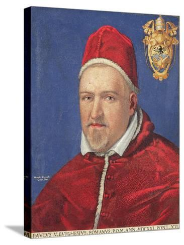 Pope Paul V (Mosaic)-Marcello Provenzale-Stretched Canvas Print