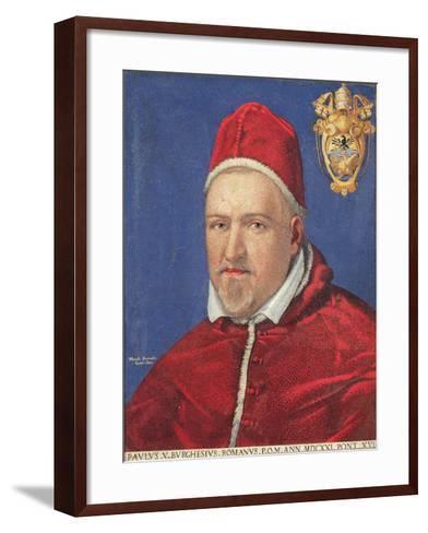 Pope Paul V (Mosaic)-Marcello Provenzale-Framed Art Print