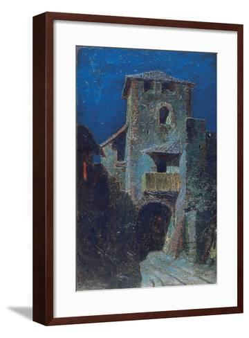Effect of the Moon over Antique Architecture-Mario De Maria-Framed Art Print