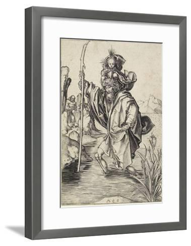 Saint Christopher, C. 1475-1480-Martin Schongauer-Framed Art Print