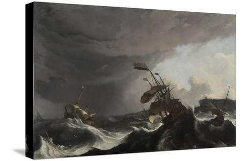The Battle of Terheide, C.1695-Ludolf Backhuysen-Stretched Canvas Print