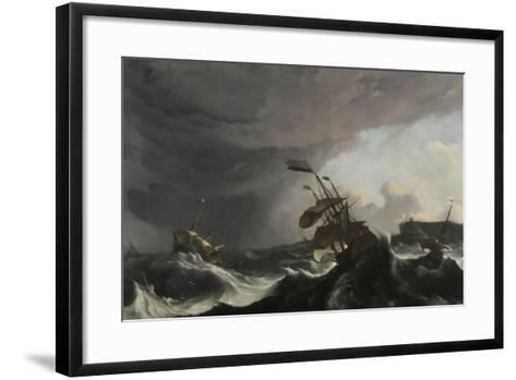 The Battle of Terheide, C.1695-Ludolf Backhuysen-Framed Art Print