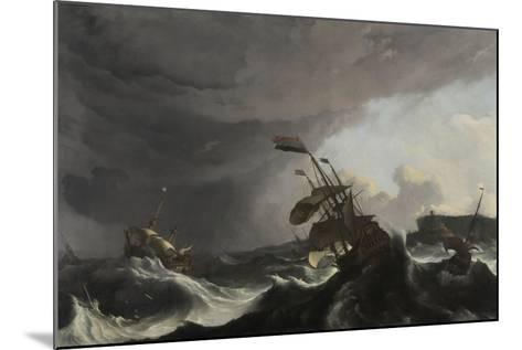The Battle of Terheide, C.1695-Ludolf Backhuysen-Mounted Giclee Print