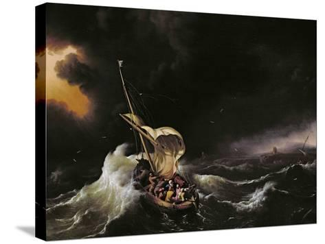 Christ in the Storm on the Sea of Galilee, 1695-Ludolf Backhuysen-Stretched Canvas Print