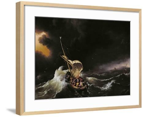 Christ in the Storm on the Sea of Galilee, 1695-Ludolf Backhuysen-Framed Art Print