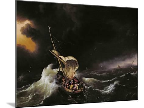 Christ in the Storm on the Sea of Galilee, 1695-Ludolf Backhuysen-Mounted Giclee Print