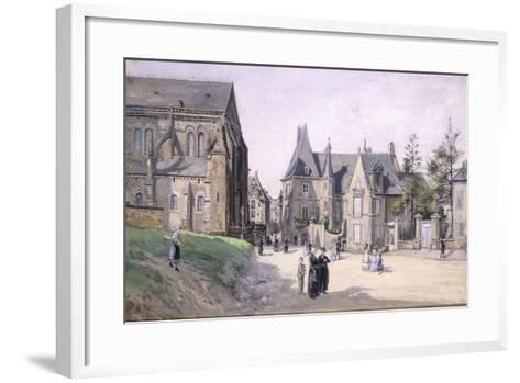 The Little Village Square; La Petite Place Du Cillage, 1870-Ludovic Piette-Framed Art Print