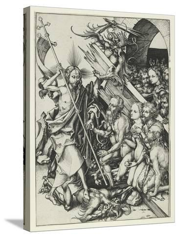 Christ in Limbo-Martin Schongauer-Stretched Canvas Print