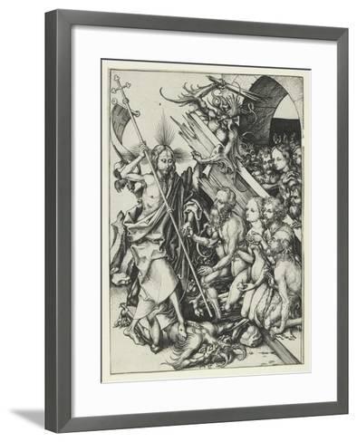 Christ in Limbo-Martin Schongauer-Framed Art Print