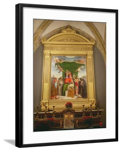The Virgin and Child Enthroned with Saints, 1521-Lorenzo Lotto-Framed Art Print