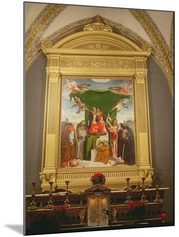 The Virgin and Child Enthroned with Saints, 1521-Lorenzo Lotto-Mounted Photographic Print