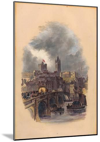 The Old Tyne Bridge, Moot Hall, St Nicholas' Cathedral and Castle (Ink and W/C on Paper)-Mary Jane Hancock-Mounted Giclee Print