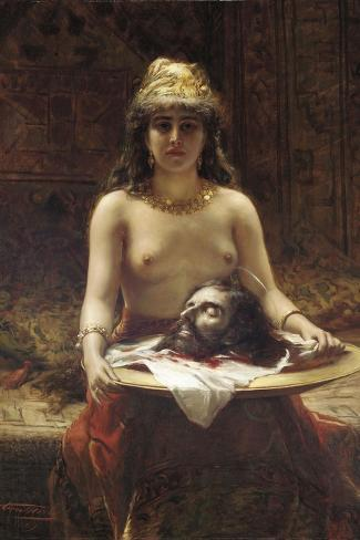 Salome, 1889-Leon Herbo-Stretched Canvas Print