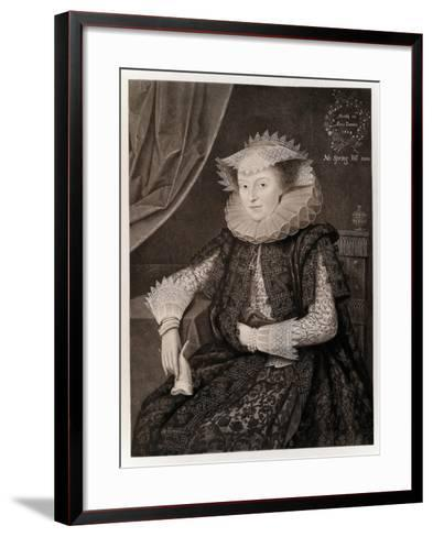 Mary Sidney-Marcus Gheeraerts The Younger-Framed Art Print