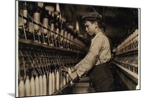 A Doffer Replaces Full Bobbins at Globe Cotton Mill, Augusta, Georgia, 1909-Lewis Wickes Hine-Mounted Photographic Print
