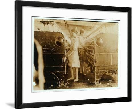 Elsie and Sadie Working at Yazoo City Yarn Mills, Mississippi Said They Were 13 Years Old, 1911-Lewis Wickes Hine-Framed Art Print