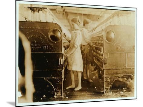 Elsie and Sadie Working at Yazoo City Yarn Mills, Mississippi Said They Were 13 Years Old, 1911-Lewis Wickes Hine-Mounted Photographic Print