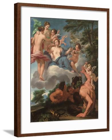 Allegory of Love Conquering Lust-Luigi Garzi-Framed Art Print