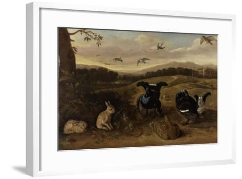 Black Game, Rabbits and Swallows in a Park, C.1700-Leonard Knyff-Framed Art Print