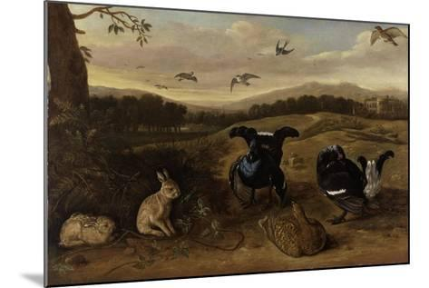 Black Game, Rabbits and Swallows in a Park, C.1700-Leonard Knyff-Mounted Giclee Print