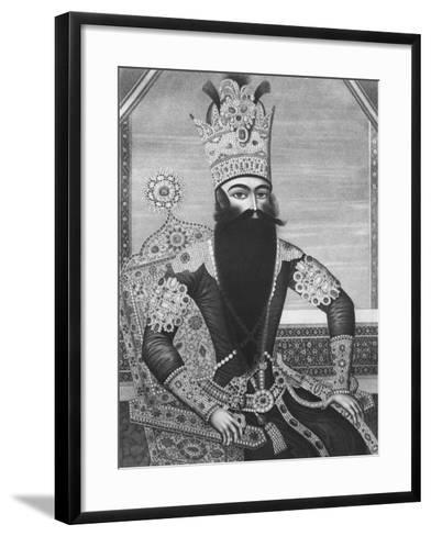 Fath-Ali Shah Qajar-Louis Charles Ruotte-Framed Art Print