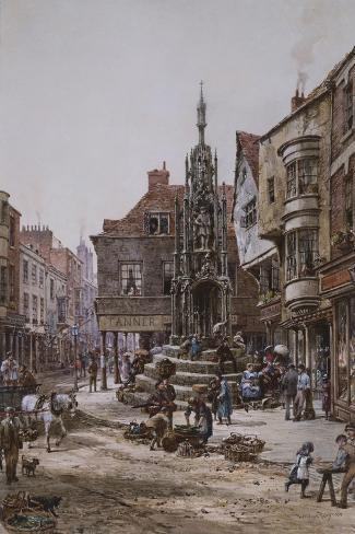 The Cross, Winchester-Louise Ingram Rayner-Stretched Canvas Print