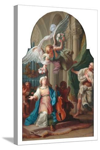 St Cecilia-Luigi Vanvitelli-Stretched Canvas Print
