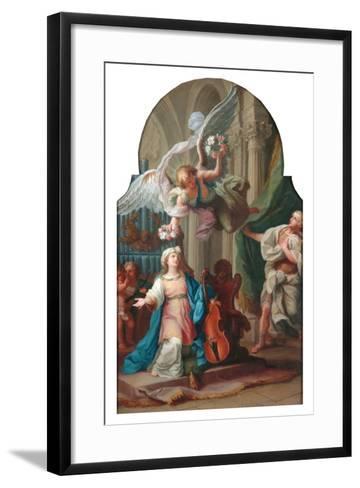 St Cecilia-Luigi Vanvitelli-Framed Art Print