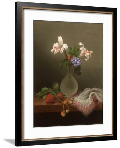 A Vase of Corn Lilies and Heliotrope, 1863-Martin Johnson Heade-Framed Art Print