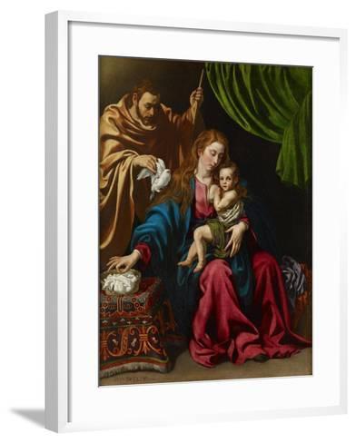 The Holy Family, 1613-Luis Tristan de Escamilla-Framed Art Print