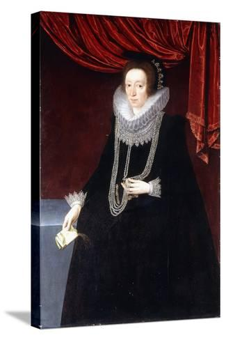 Portrait of Margaret Belasyse-Marcus the Younger Gheeraerts-Stretched Canvas Print