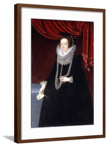 Portrait of Margaret Belasyse-Marcus the Younger Gheeraerts-Framed Art Print