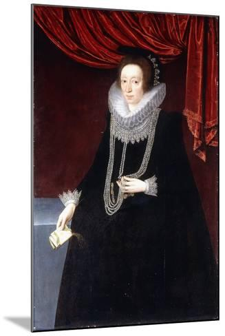 Portrait of Margaret Belasyse-Marcus the Younger Gheeraerts-Mounted Giclee Print