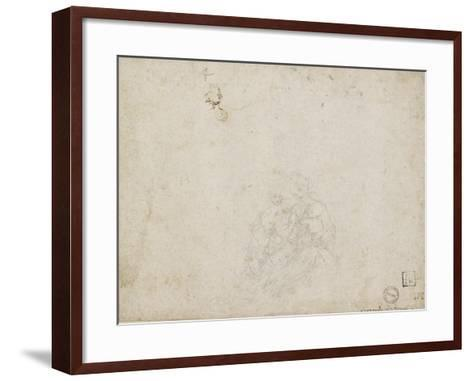 The Virgin and Child Adored (Lead Point over Indentations with the Stylus on Off-White Paper)-Leonardo da Vinci-Framed Art Print