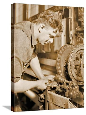 Portrait of a Powerhouse Mechanic, C.1924-Lewis Wickes Hine-Stretched Canvas Print