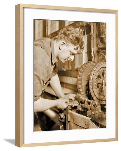 Portrait of a Powerhouse Mechanic, C.1924-Lewis Wickes Hine-Framed Art Print