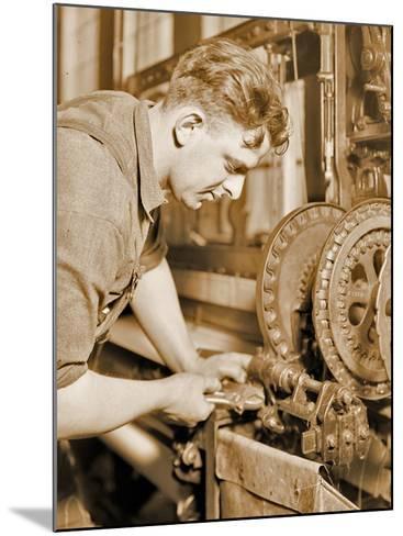 Portrait of a Powerhouse Mechanic, C.1924-Lewis Wickes Hine-Mounted Photographic Print