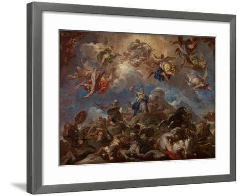 Judith Displaying the Head of Holofernes, 1703-04-Luca Giordano-Framed Art Print