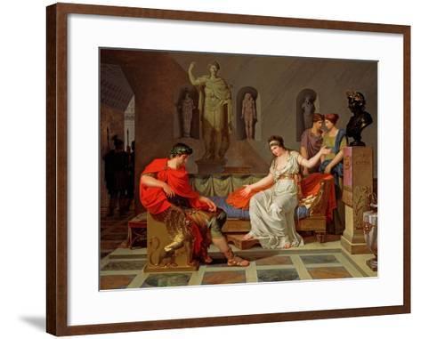 Cleopatra and Octavian, 1787-88-Louis Gauffier-Framed Art Print
