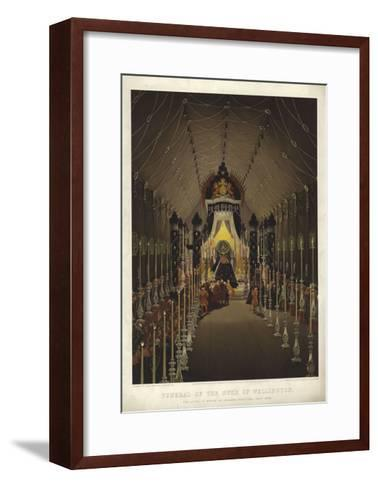 Funeral of the Duke of Wellington, the Lying in State in Chelsea Hospital, November 1852-Louis Haghe-Framed Art Print